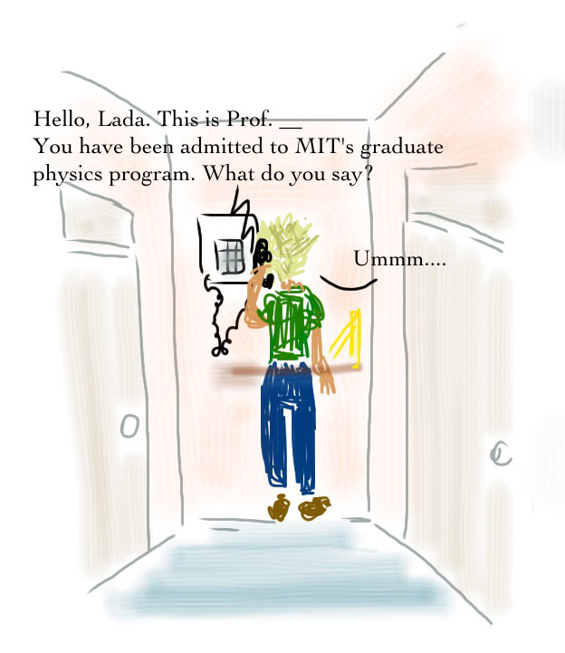 call from MIT admissions